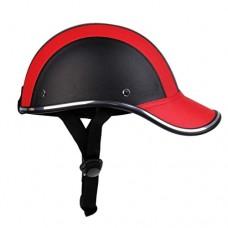 FidgetFidget Helmet Ultra-light Cycling PU Baseball Cap Style Bike Motorcycle Visor - B07G5X9PMZ