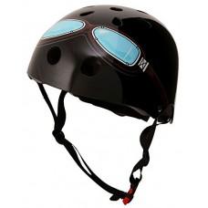Kiddimoto Kids Helmet - Black Goggle - B01EYZOJWQ