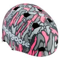 Mongoose Youth Logo Camo Grit Helmet  Pink/grey - B072J8D6GZ