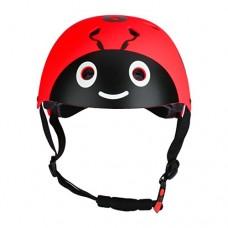 iEFiEL Multi-sport Cute Safety Ladybug Helmet for Skateboard Cycling Skate Scooter Adjustable for Boys Girls - B078HCHGNQ