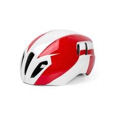 Bicycle One-Piece Adjustable Bike Riding Helmet Multiple Big Ventilation Holes Bike Light Weight Helmet(White+Red) for Skating - B07FR4T71C
