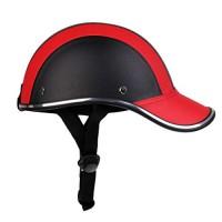 FidgetFidget Helmet Ultra-light Cycling PU Baseball Cap Style Bike Motorcycle Visor - B07G8BLZN8