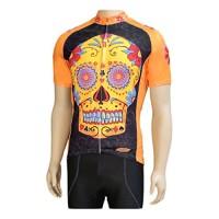 Clean Motion Short Sleeve Cycling Jersey - Sugar Skull - B078J66FTV