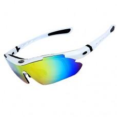 OBAOLAY Men's Polarized Sports Sunglasses Women's Cycling Glasses Fishing Golf Baseball UV400  5 Replaceable Lenses - B07CZ1NVHJ