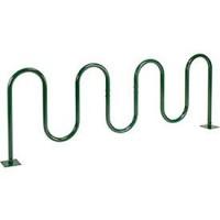 """94""""L Wave Bike Rack  Green  Flange Mount  9-Bike Capacity - B0199RMEQ2"""