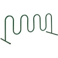 Wave Bike Rack  Green  Free Standing  9-Bike - B01B2O9ILO