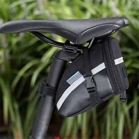 ASOSMOS 1.2L Bike Seat Saddle Wedge Pack Pannier Storage Bag Mountain Road Bicycle Bike Cycling PU Saddle Bag  Bicycle Repair Tools Pocket Pack Riding Cycling Supplies - B07CWJBMYH