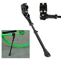 "KORADA Mountain Bike Kickstand-Aluminum Alloy Single Leg Rear Mount Non Slip Quick Adjustable Height Bicycle Kick Stand  Fits Most 24"" 26"" Bicycle/Road Bike/BMX/MTB  Black - B07G3DMZNG"