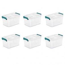 STERILITE 5.5 Qt Modular Latch Box  Teal Sachet - Case of 6 - B07GJ1ZW3T