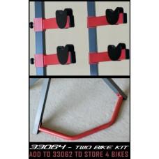 gearup Extra Two Bike Kit for Platinum Steel 2-Bike Freestand Storage Rack  Red - B003XOBAUE