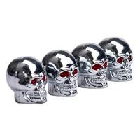 Alonea Hot Sell Red Eyes Skull Tyre Tire Air Valve Stem Dust Caps For Car Bike Truck - B01N3XWJP9