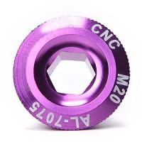 Ioffersuper Mounta Bike Bicycle Parts Crank Arm Screws Crankset Arm Bolt CNC for SHIMANO Purple - B01MQXMZ1I