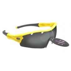 Rayzor Liteweight UV400 Yellow Sports Wrap Cycling Sunglasses  Vented Smoked ... - B00C0YN7YK