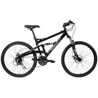 2018 Gravity FSX 1.0 Dual Full Suspension Mountain Bike with Disc Brakes  Shimano Shifting (Black  17in) - B0147MDLPW