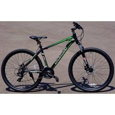 "Navi RS100 Hardtail Mountain Bike (Black/Green)  Aluminum Alloy Frame  Shimano Disc Brakes  Shimano Crank Set  Shimano Tourney 21-speed  27.5"" Wheel Mountain Bike - B01FBBYG9S"