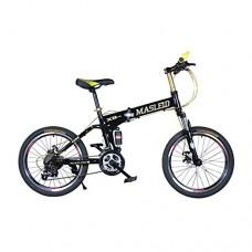 Omeng Mountain bike MTB 20 inch shock disc brakes speed folding mountain bike bicycle(20''  21 speed) - B07F5JQNZG