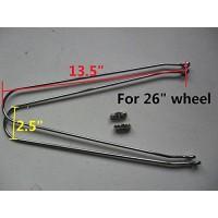 """Bike 26"""" fender clamp + bracket pair chrome - B01LYM8M2O"""
