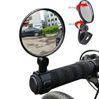 Matoen 2pcs Universal Mini Rotaty Rearview Handlebar Glass Mirror For Bike Bicycle Cycling - B073LK7BTR