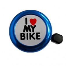 "Inkach® ""I Love My Bike"" Bell  Bicycle Bell Heart Alarm Bike Metal Handlebar Horn Bell Bike Accessory - B01EUZI54S"
