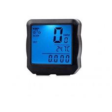 Pullic Bicycle Acceseories Outdoor Multifunctions Waterproof LCD Display Bicycle Speedometer and Bicycle Luminous Meter(Black) - B07FC2XFP2