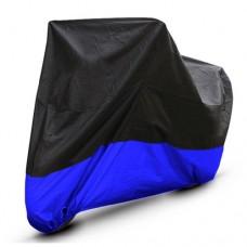 Black Blue Motorcycle Cover For Harley Davidson Fatboy / FXD/ VRod UV Dust Prevention XL - B016V46TIK