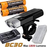 Fenix BC30 XM-L2 T6 1800 Lumens XM-L2 T6 LED Bicycle Bike Light Flashlight LED Headlight 2 x 3500mAh Battery are-X2 Charger Battery case - B07GCVWW58
