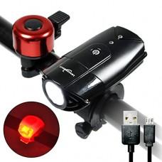 Longer Road USB Rechargeable Bike Light Waterproof Bicycle Headlight - B01N241K3R