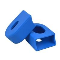 DZT1968 Mountain Bike Carbon Fiber Fixed Gear Pedal Crank Case Protector cap crown Cover Cap (Blue) - B071XNQ9ZW