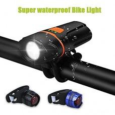 LED Bicycle Lights Set,WU-MINGLU IP 64 1100 Lumens Waterproof USB Rechargeable Bike Light Set  Super Bright Bike Headlight for Bicycles Road  MTB & Safety Flashlight for Woman - B077DMLFC9