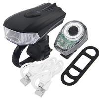 PAGAO USB Rechargeable LED Bike Light Set Super Bright Front Headlight and Rear LED Bicycle Light 400 Lumens Sensor Motion Headlight Waterproof Cycling Flashlight - B076CHPW44