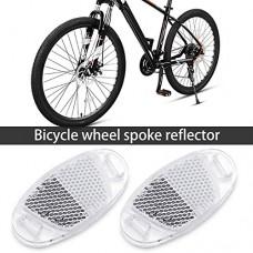 BSK 10Pcs Outdoor Plastic Bicycle Wheel Spoke Night Safety Warning Reflector (Clear) - B0749FVGPB