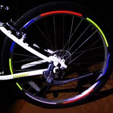 HuaYang MTB Road Bike Bicycle Cycling Wheel Rim Light Reflective Stickers Decal(Pack of 1: Blue) - B00E8CC82O