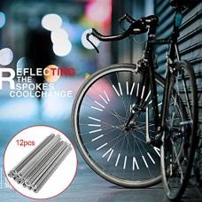 Onner 12Pcs Bicycle Wheel Rim Spoke Reflector Bike Mount Clip Tube Warning Light Strip Fit for Most Bike Spokes  Bicycle Safety Reflective Tubes - B07GLJJPXR
