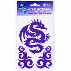 Reflective Decals Tribal Dragon Set – Tribal Safety Sticker Kit – Dragon Reflector Stickers - Seward Street Studios - B075CQVYGX