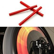 oldeagle 24pcs Portable Cycling Bike Wheel Spoke Reflector Clips Reflective Warning Strip Tube - B079NKR3QB