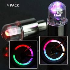 Aklamater 4PC Auto Car Accessories Bike Supplies Neon Strobe LED Tire Valve Caps Lights - B07D68ZWC8