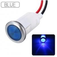 CoCocina 12V 12.5mm LED Indicator Pilot Dash Dashboard Panel Warning Light Lamp 5 color - Blue - B07D4FM2KB