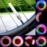 Xinnyuan 2Pcs Cycling Firefly Effect Colorful Car Bike Motorcycle 5LED Flash Neon Lamp Tyre Valve Cap Light Wheel Spoke - B07DLSMB85