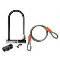 Kryptonite D Lock bike combination KryptoLok 2 Std.+KFlex - B0010XTIB8