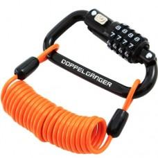 DOPPELGANGER - Bicycle Bike Dial Combo Karabiner Lock - B00K2NHT9U