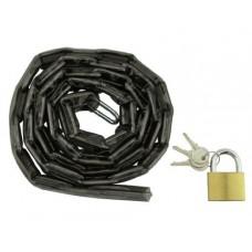 "Chain Lock 72"" x 5mm Black. Bike lock  bicycle lock for lowrider   beach cruiser  chopper  limo  stretch bike  bmx  track  fixie  mountain bikes - B00H4HJ1DO"