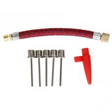 Awakingdemi Pump Needle Inflator Kit  Balls Inflator Parts 7 pcs Needle Valve Connector Pump Adaptor Set Kit for Football Bicycl - B071LGVLSR