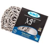 KMC X9 Silver/Black 9 speed Chain  6.6mm - B0028MQ9O4