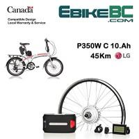 "Electric folding bike Conversion KIT for Dahon Tern Brompton foldable Bicycle 350/500W E Bike Complete Kit Front Hub Motor  Battery Li-Ion 25mph LCD 16"" 20"" 24"" 26"" rims - B079MN5HZ1"
