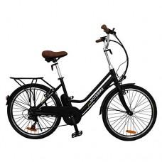 HOTEBIKE 24 inch Adult Ebike City Electric Bicycle 250W Electric Bike Best Classic economical Household Lithium-ion Battery 7 Speed E-Bike - B07GJL4HLS