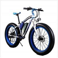 RICH BIT TP012 Electric Fat Bike Mountain Bicycle Snow Bike Cruiser Ebike 1000 Watt Motor 48V 17Ah Lithium-ion Battery 26'' 4.0 inch Fat Tire Suspension Fork Blue - B071RMP55Q