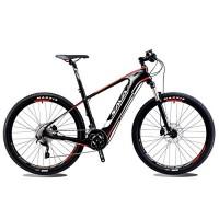 SAVADECK Knight 9.0 Carbon Fiber e bike 27.5 inch Electric Mountain Bike Pedal-assist MTB Pedelec Bicycle with Shimano SLX 20 Speed and Removable 36V / 10.4Ah SAMSUNG Li-ion Battery - B06XRVFVP2
