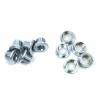 FSA Steel Single Speed Chainring Bolt Kit (10 Piece  Silver) - B007HVNTMQ