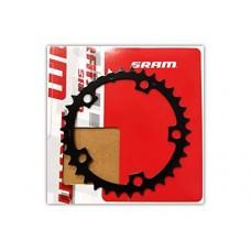 SRAM/Truvativ Chain Ring Road 34T Double V1 110 Steel Matte Black - B07G2P3MC5