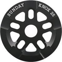 Sunday Bikes Knox 25t Black Bicycle Sprocket with Grind Guard - B00HMSD6XG